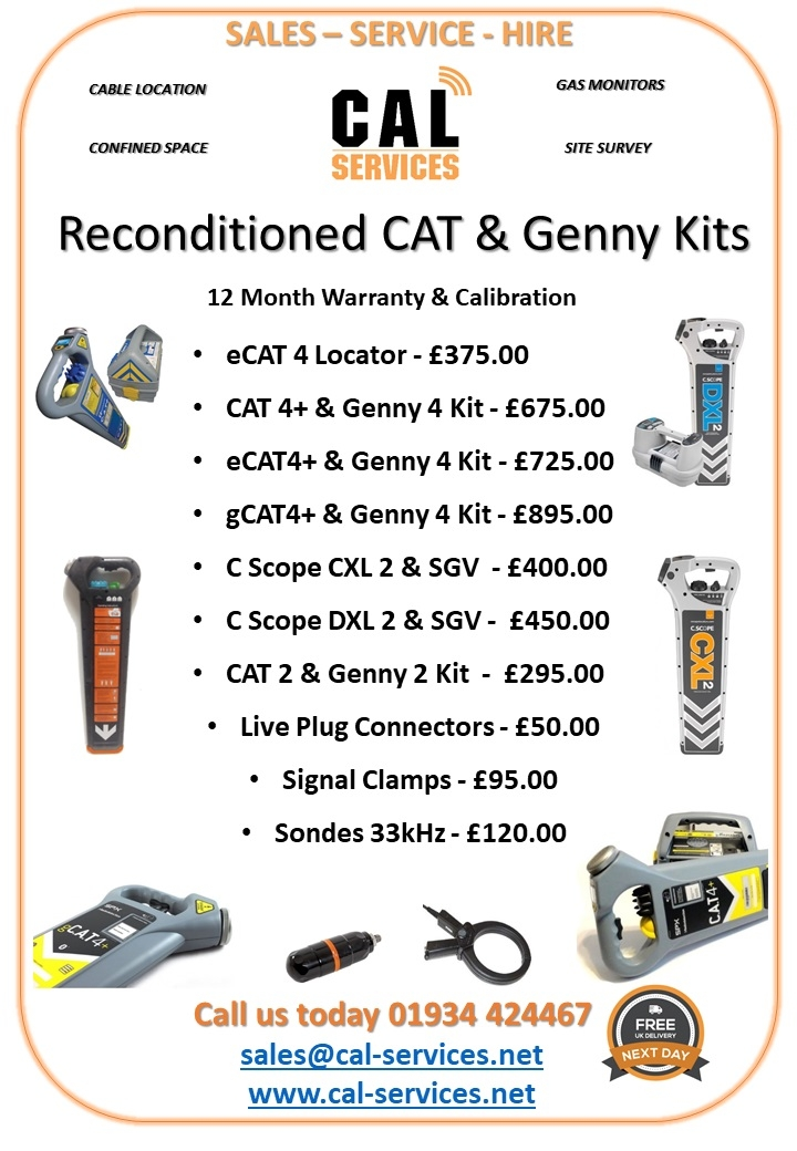 Reconditioned CAT Genny Cable Avoidance Tools
